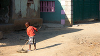 Boy Sweeping (Mombin Crochu, Haiti; March 2016)